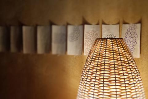 lamparas fibras vegetales arte maria garcia artemariagarcia cesteria basketry defango iluminacion