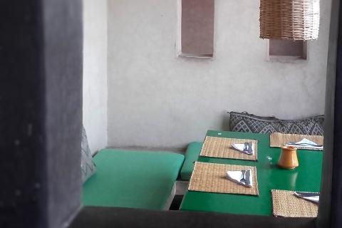 restaurante marrakech Aplicacion tadelakt arcilla ideal para baños Bioconstrucción bioreforma.