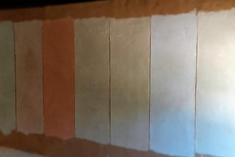 pintura natural muestrario muestras defango comcal revestimientos naturales pigmentos casa sana paredes sanas