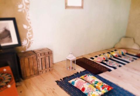 revoco con mortero de arcilla defango reformas bioconstruccion casa sana paredes que respiran pintura de cal natural